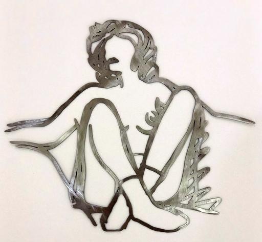 汤姆•韦瑟尔曼 - 雕塑 - Rosemary with socks, arms outstreched