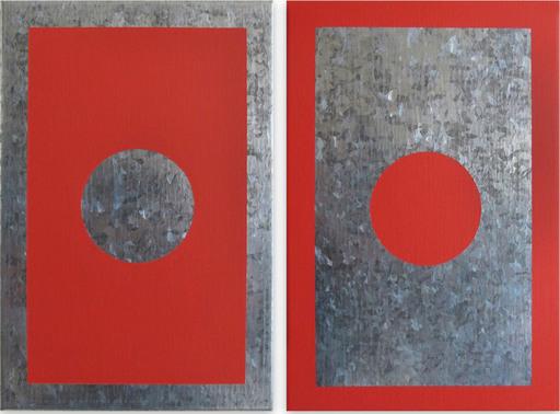 Daniel GÖTTIN - Gemälde - O1A-B, 2018 (Abstract painting)