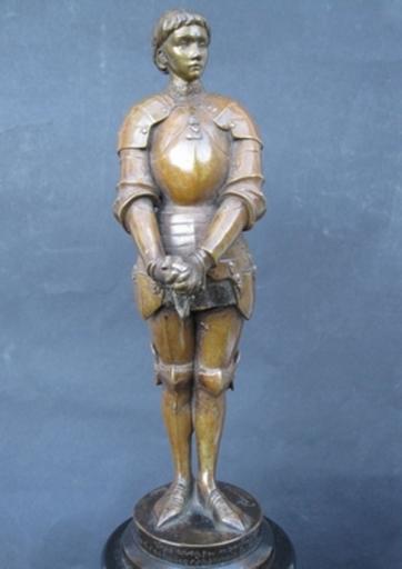Louis Ernest BARRIAS - Sculpture-Volume - Jeanne d'Arc Prisonnière