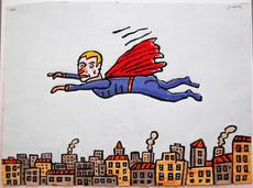 Antonio SEGUI - Estampe-Multiple - Super Heros