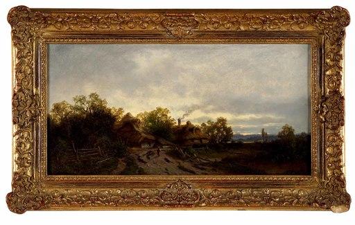 Zygmunt SIDOROWICZ - Gemälde - Landscape with Huts