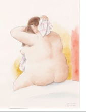 Fernando BOTERO - Disegno Acquarello - After Degas