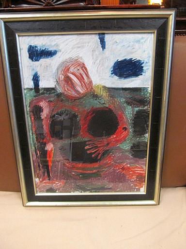 Karl KLUTH - Pintura - Expressiver Frauenakt