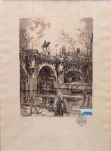 Albert DECARIS - Grabado - le pont neuf