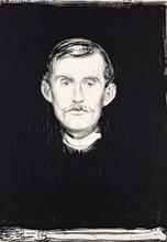Edvard MUNCH - Grabado - Self-portrait