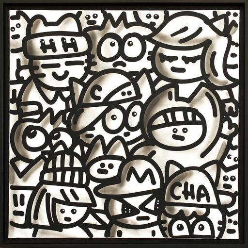 CHANOIR - Gemälde - Black Black White Chas