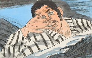 "Richard BOSMAN - Stampa-Multiplo - Richard Bosman ""Nightmare"" Etching, Signed Edition"