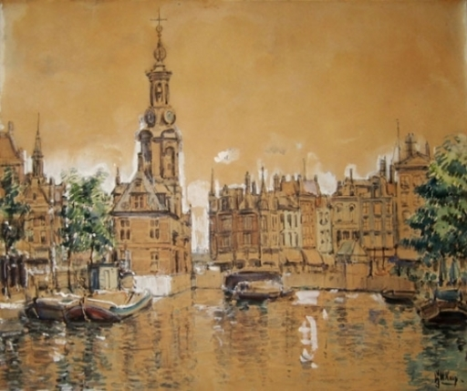 Gerrit Willem KNAP - Drawing-Watercolor - Amsterdam