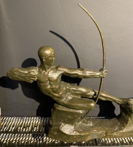 Ernest Victor ROMANET - Escultura - Tireur à l'arc