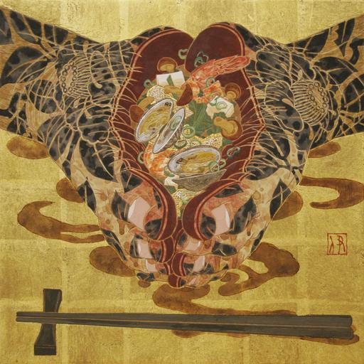 Hiroomi ITO - 绘画 - Sopa de miso en los pies
