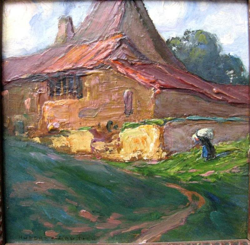Jean HUBERT-GAUTIER - Painting - PETIT PAYSAGE BRETON