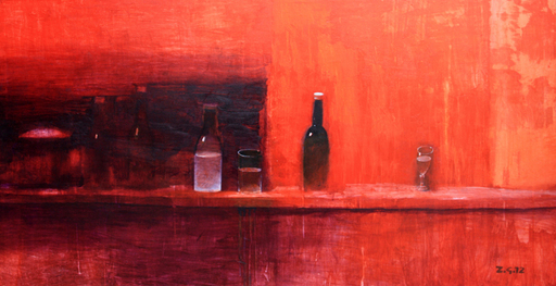 Zurab GIKASHVILI - Pintura - Still life in red