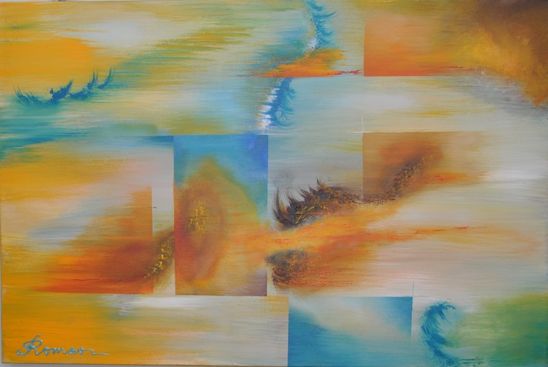 Romeo DOBROTA - Painting - Surrender night,