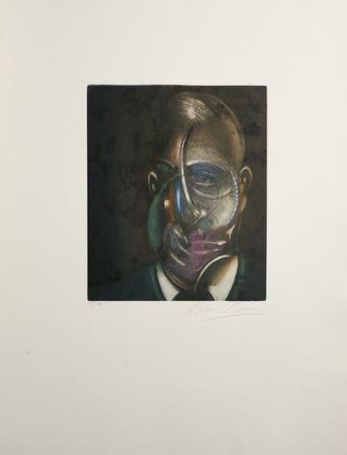 弗朗西斯•培根 - 版画 - Portrait of Michel Leiris