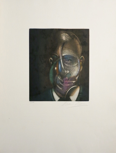 Francis BACON - Grabado - Portrait of Michel Leiris