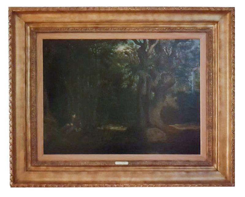 Gustave COURBET - Painting - le chêne de Beranger