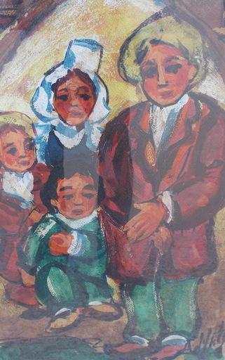 Henry Maurice D'ANTY - Pintura - Les bretons