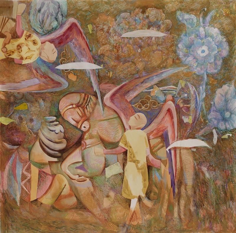 Amar DAWOD - Painting - The Ta-Sin of the Self-Awareness in Tawhid II