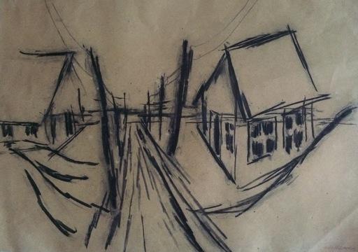 Heiner MALKOWSKY - Zeichnung Aquarell - Untitled