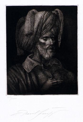 Ernst FUCHS - Druckgrafik-Multiple - Selbstportrait als Ali Mirza