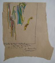 André BEAUDIN - Disegno Acquarello - DESSIN PAPIER ENCRE GOUACHE 48 SIGNÉ MAIN HANDSIGNED DRAWING