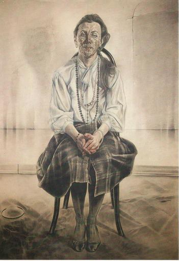 Luca CROCICCHI - Dibujo Acuarela - Ritratto di Margherita