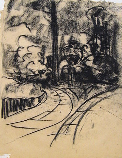 Friedrich EINHOFF - Drawing-Watercolor - #20010: Industrie.
