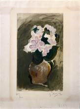 Georges BRAQUE - Estampe-Multiple - Le Bouquet rose