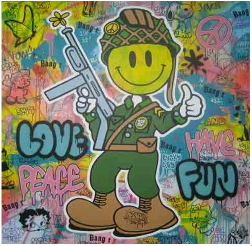 SPEEDY GRAPHITO - Painting - Love peace and have fun
