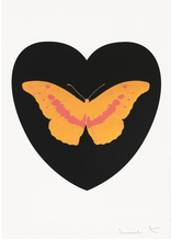 Damien HIRST (1965) - I Love You - Black/Cool Gold/Loganberry