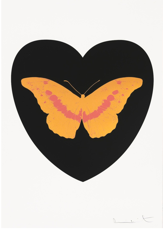 Damien HIRST - Print-Multiple - I Love You - Black/Cool Gold/Loganberry