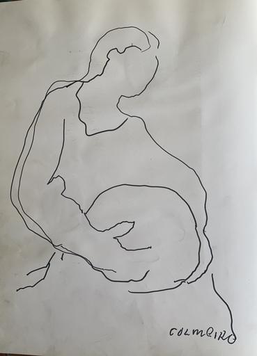 "Manuel COLMEIRO - 水彩作品 - ""Mujer"""