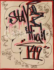 STAYHIGH 149 - Peinture - Stay High Figural Scarlet