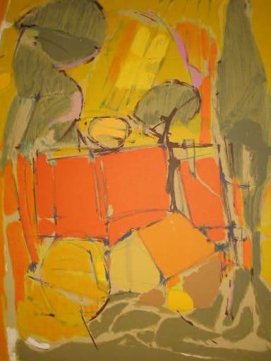 Freddy DEFOSSEZ - 版画 - La ferme en Automne,1980.