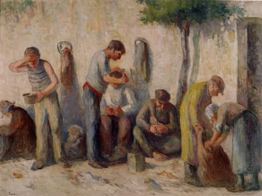 Maximilien LUCE - Gemälde - Le banchine della Senna