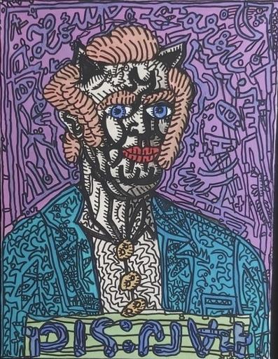 Robert COMBAS - Peinture - Le Loup Garou