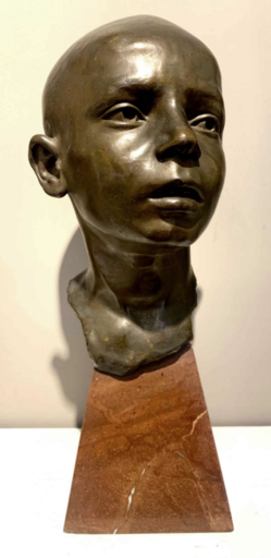 Domenico JOLLO - Skulptur Volumen - Testa di fanciullo