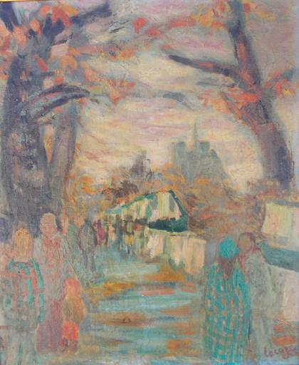 Germaine LACAZE - Pintura - Les bouquinistes