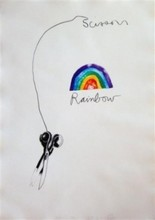 Jim DINE - Stampa Multiplo - Scissors and Rainbow