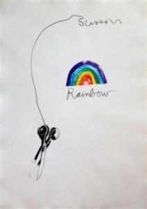 Jim DINE - Print-Multiple - Scissors and Rainbow