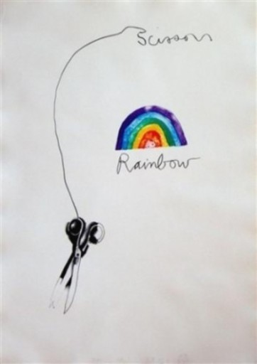 Jim DINE - Print-Multiple - Scissors and Rainbow