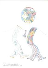 Reine BUD-PRINTEMS - Drawing-Watercolor - Kepler 452-b - dessin no 16