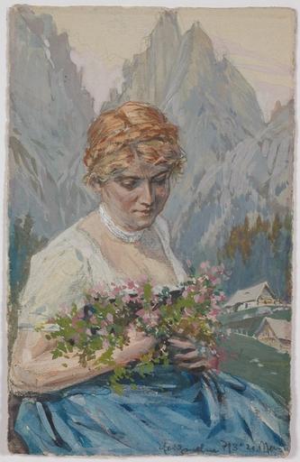 "Ferdinand Karl GOLD - Dibujo Acuarela - ""Alpine Flowers"" by Ferdinand Karl Gold"