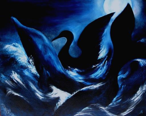Anne Marie DELABY - Pittura - L'Oeuvre au Noir