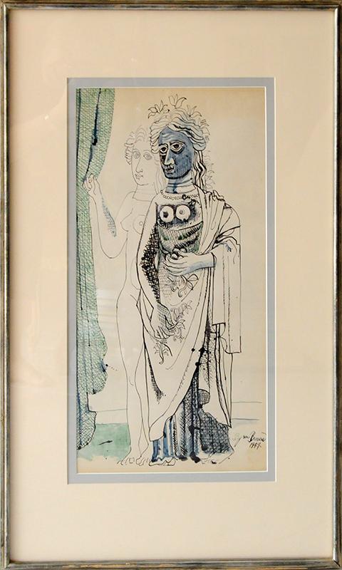 Byron George BROWNE - Painting - Figure Study