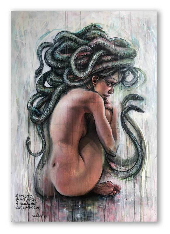 HERAKUT - Painting - It was among the most twisted of friends that I felt at home