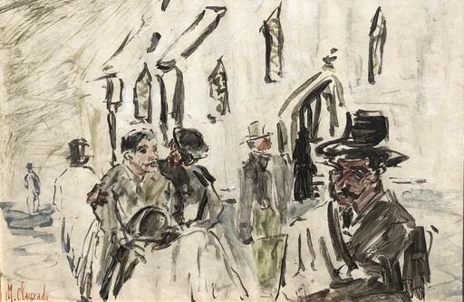 Marc CLAUZADE - Drawing-Watercolor - Les passants