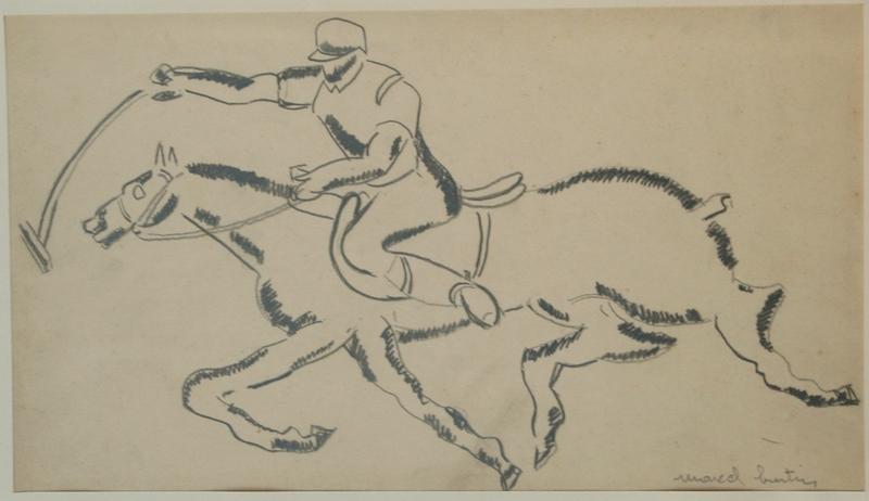 Marcel BURTIN - Drawing-Watercolor - LE POLO 4