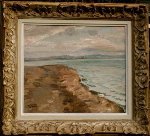 Frédéric Marius DE BUZON - Painting - Vue de la Côte Basque