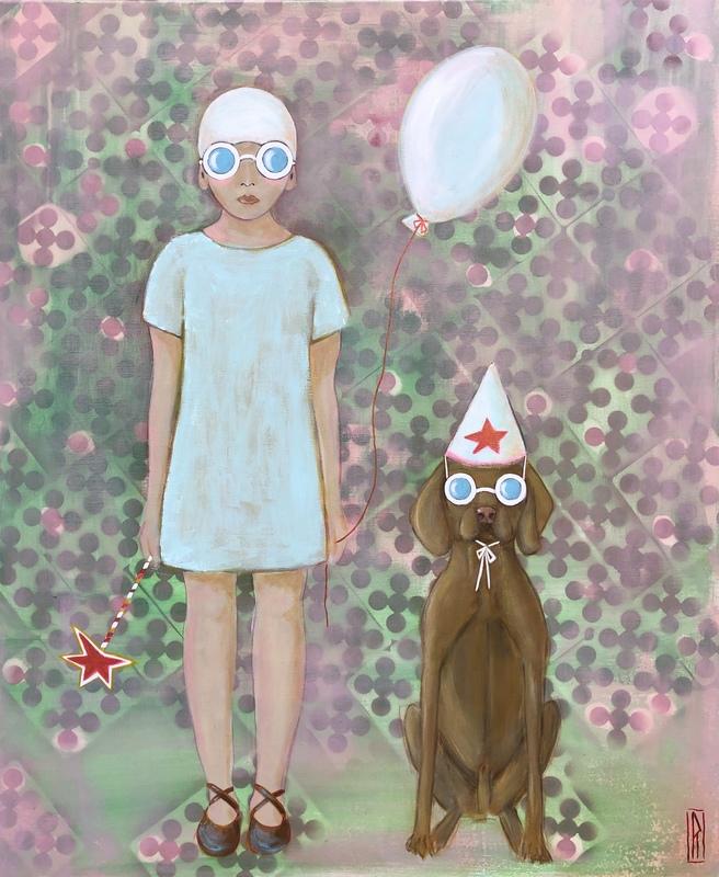 Raoul P. BROSSEAU - Painting - Abracadabra, le chien